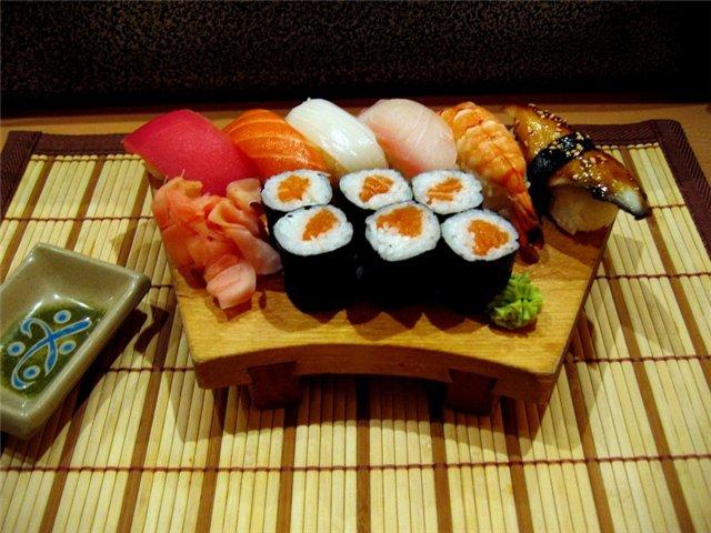 Отличия между роллами и суши